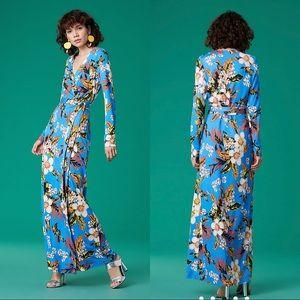 DVF Maxi Silk Jersey Wrap Dress